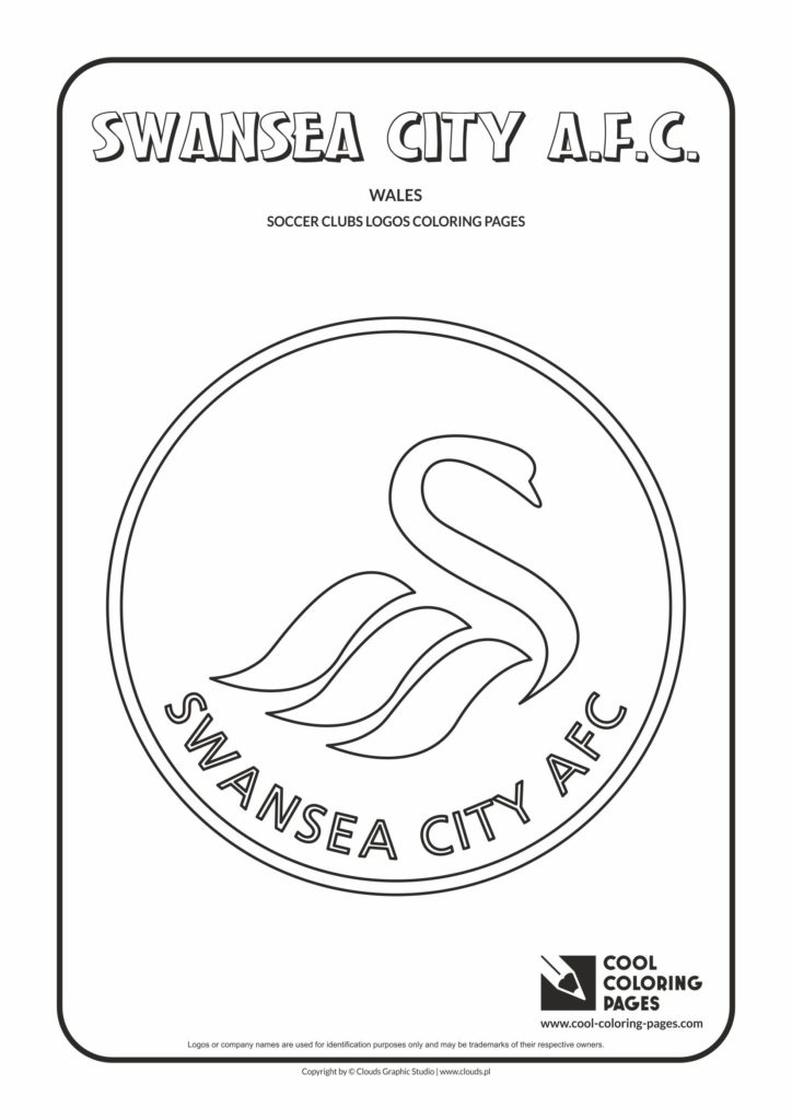 Cool Coloring Pages Swansea City AFC Logo Coloring Page