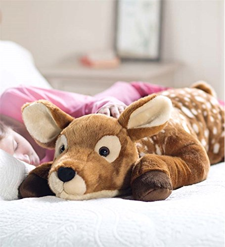So cute, fuzzy spotted fawn body pillow, perfect gift for teen daugeter