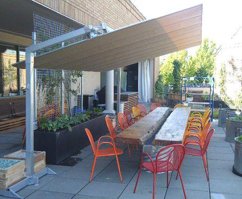 fim flexy aluminum 10 x 14 rectangular offset patio umbrella