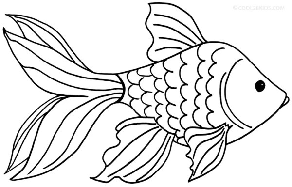goldfish coloring page # 7
