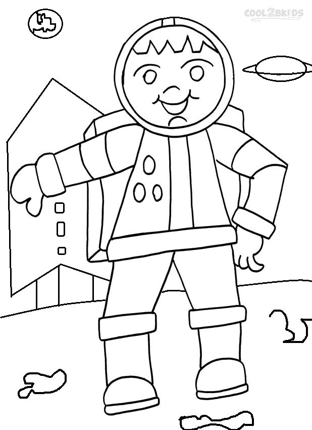 Printable Astronaut Coloring Pages For Kids Cool2bKids