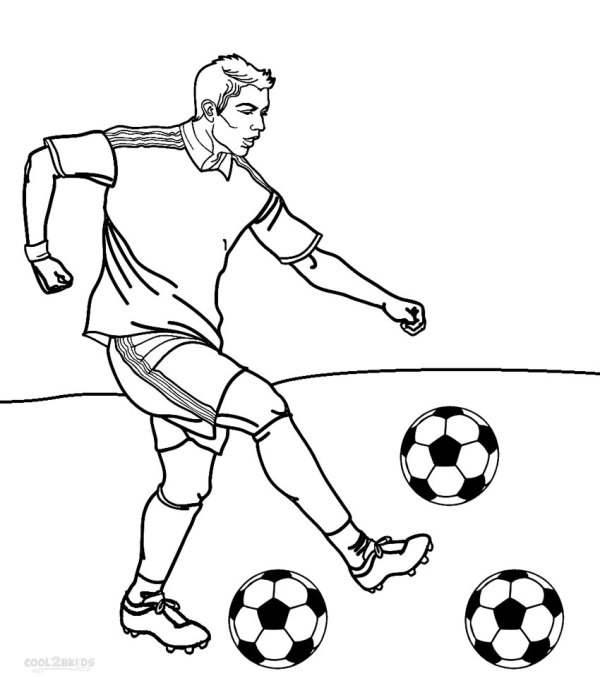 football player coloring page # 13