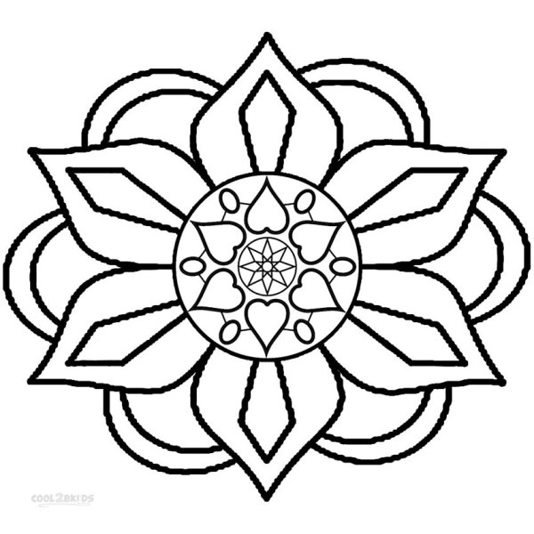 rangoli coloring pages # 3