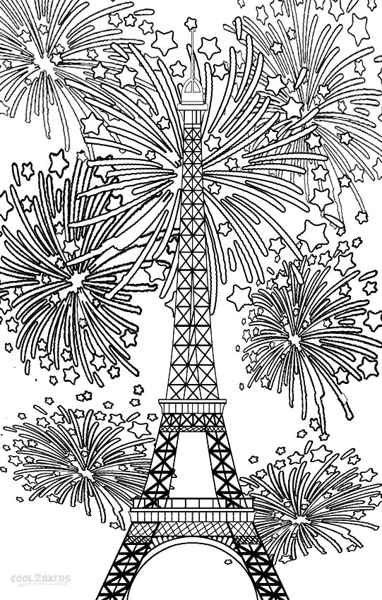 firework coloring pages # 9