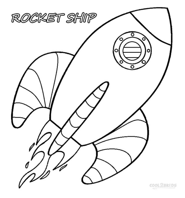 rocket ship coloring pages # 3