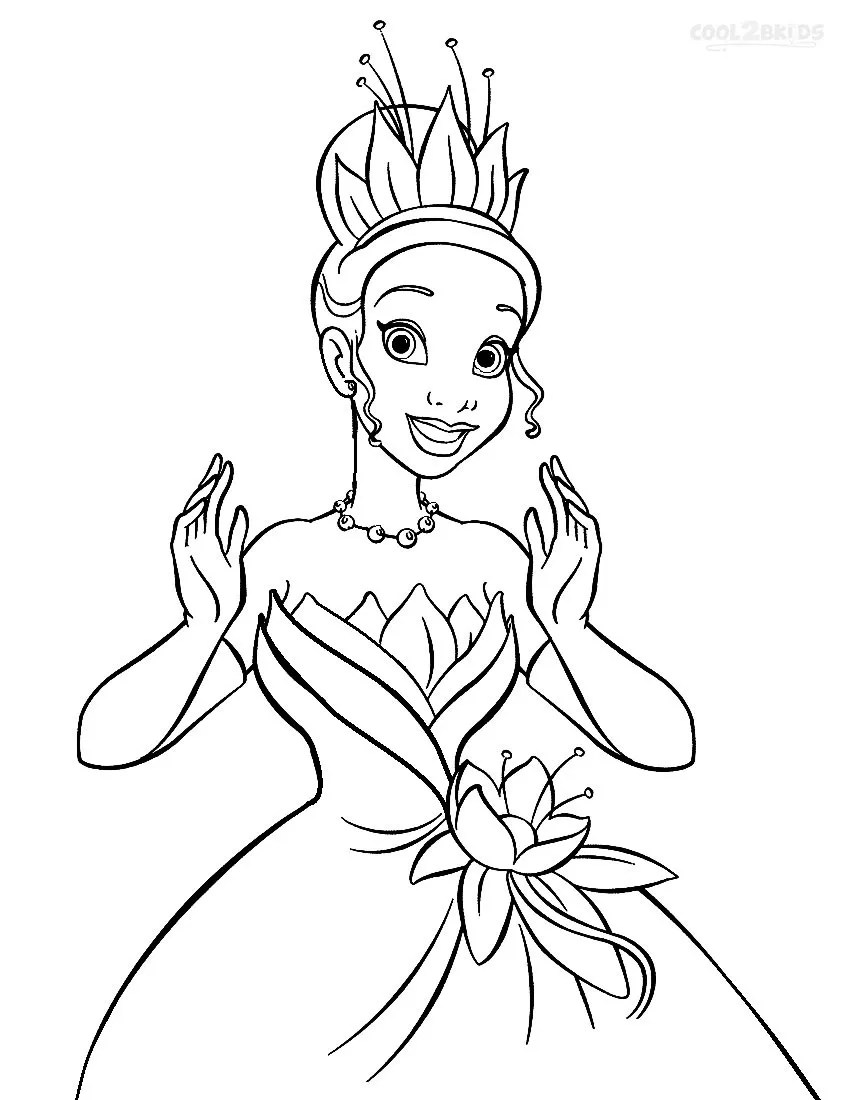 Printable Princess Tiana Coloring Pages For Kids | Cool2bKids | free printable princess tiana coloring pages