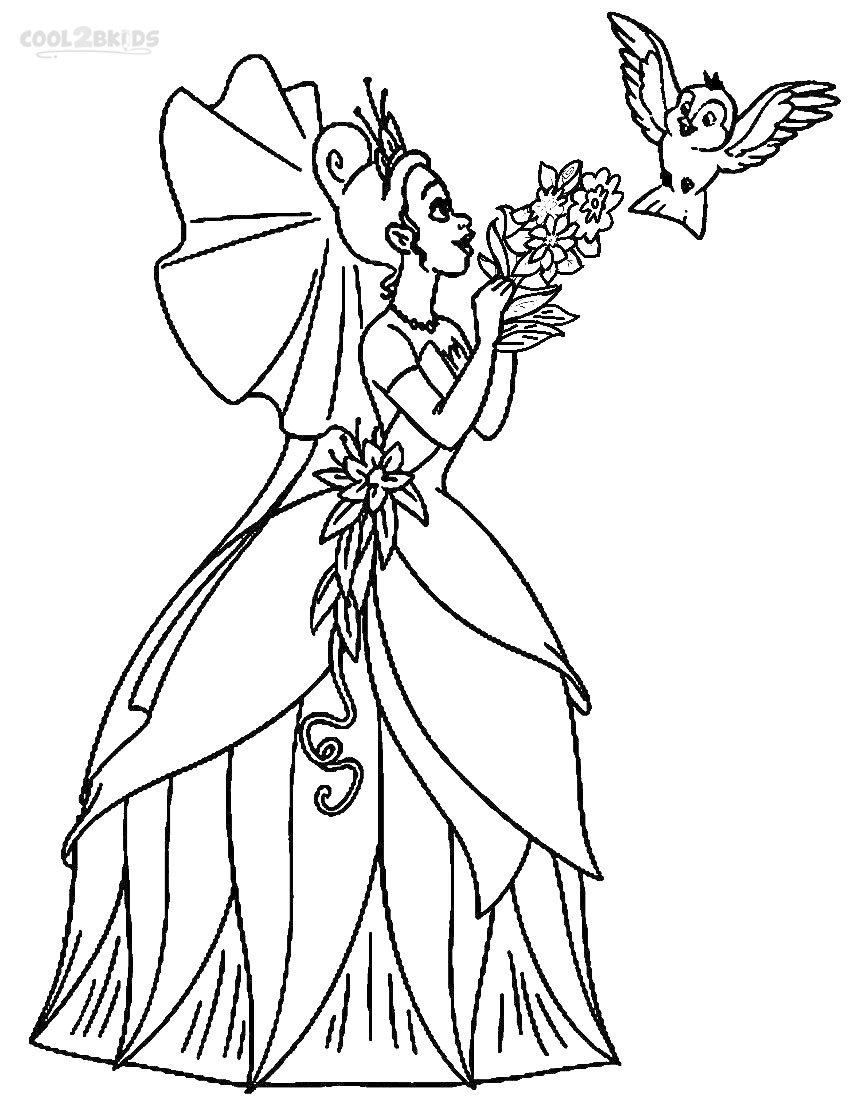 Printable Princess Tiana Coloring Pages For Kids | Cool2bKids | all disney princess coloring pages printable