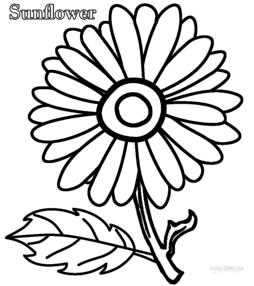 printable sunflower coloring pages for kids