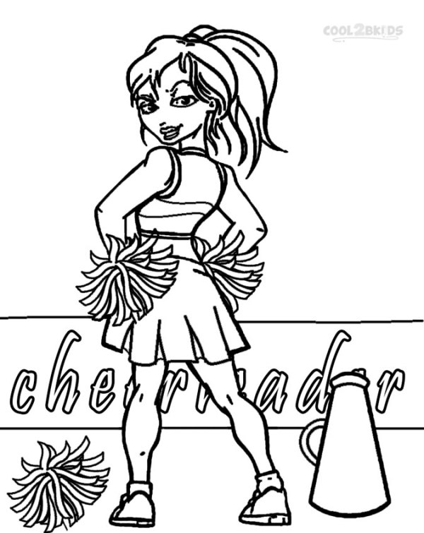 cheer coloring pages # 4