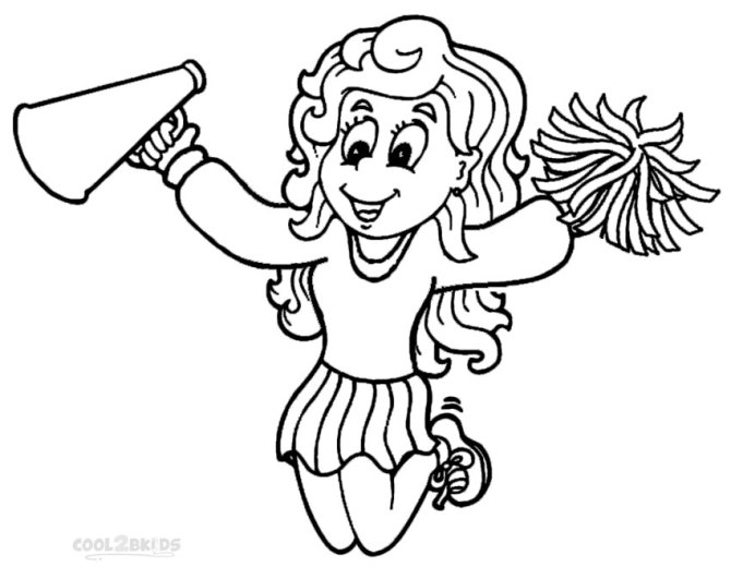 Free Printable Cheerleader Coloring Pages
