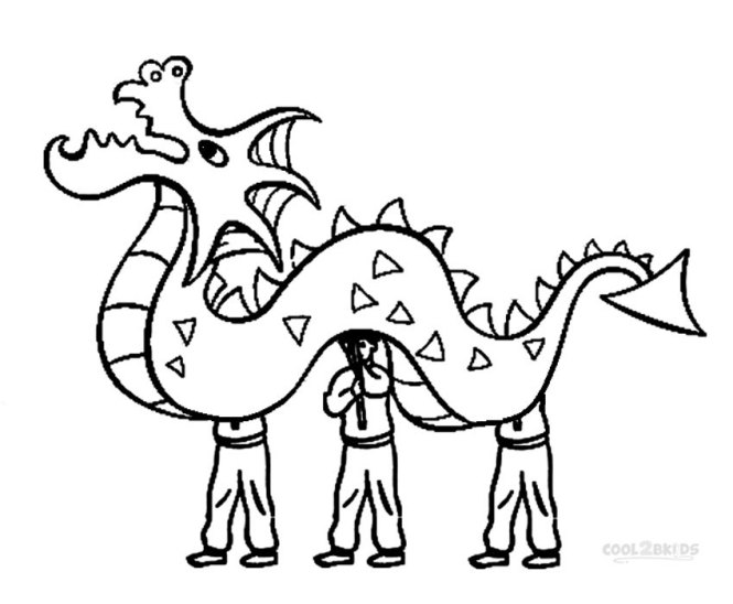 Chinese New Year Dragon Coloring Sheets | Coloring Page for kids