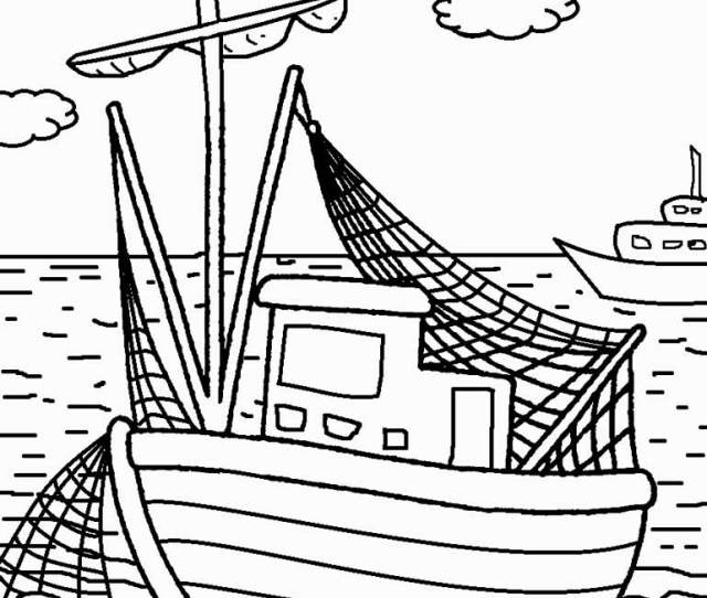 Printable Boat Coloring Pages For Kids Coolbkids