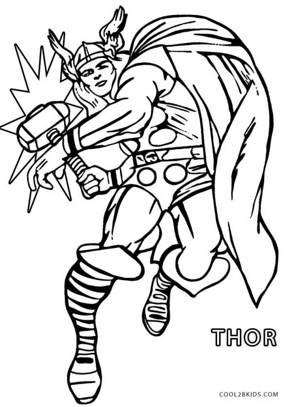 thor coloring page # 3