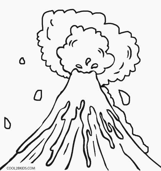 Volcano: Volcano Parts Labeled