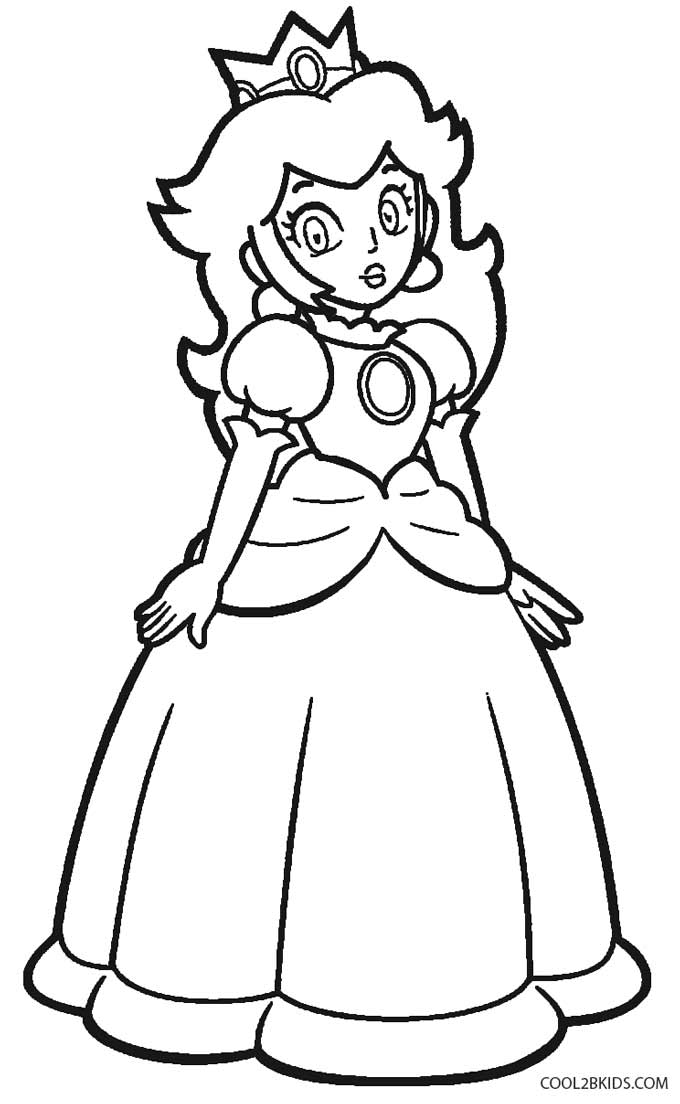 Printable Princess Peach Coloring Pages For Kids   Cool2bKids   free coloring pages princess peach