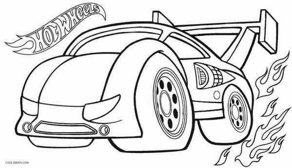 hot wheel coloring pages # 10