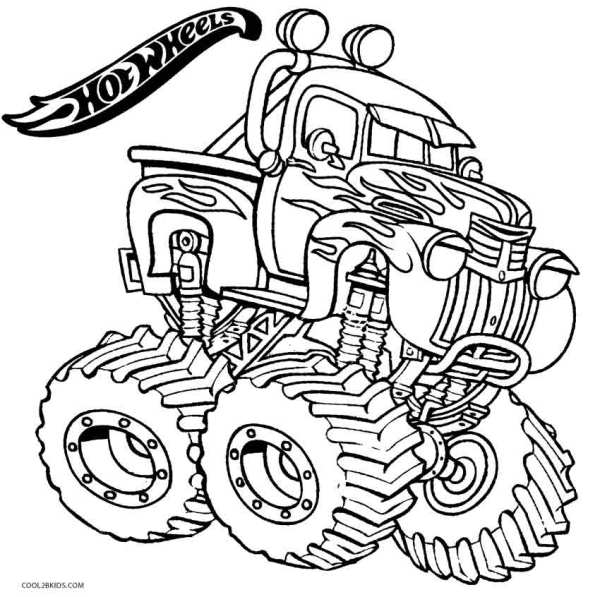 hot wheel coloring pages # 66