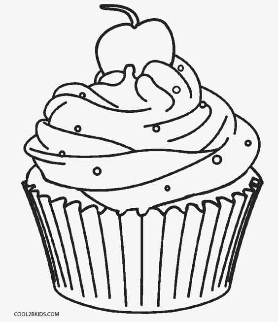 cupcakes coloring pages # 2