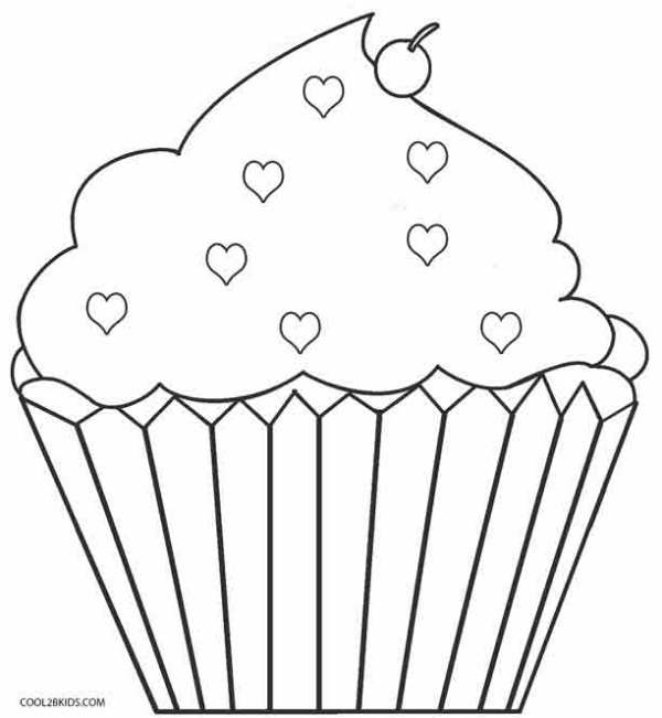 cupcakes coloring pages # 17
