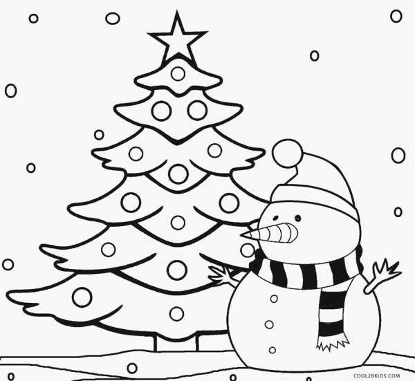 coloring pages christmas tree # 4