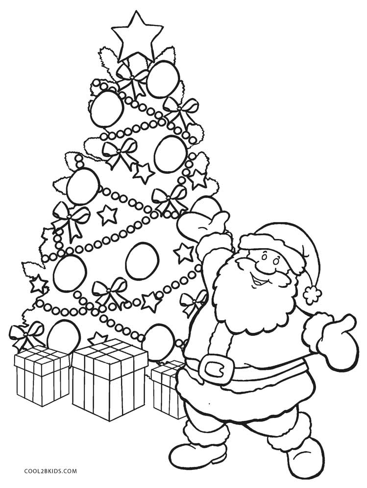 Christmas Tree Decorations Colouring Page
