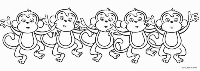 free printable monkey coloring pages for kids cool2bkids - Monkey Coloring Page