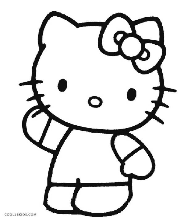 hello kitty free coloring pages # 4