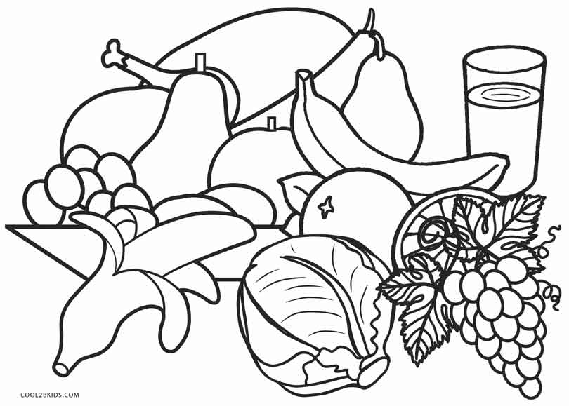 free printable food coloring pages for kids  cool2bkids