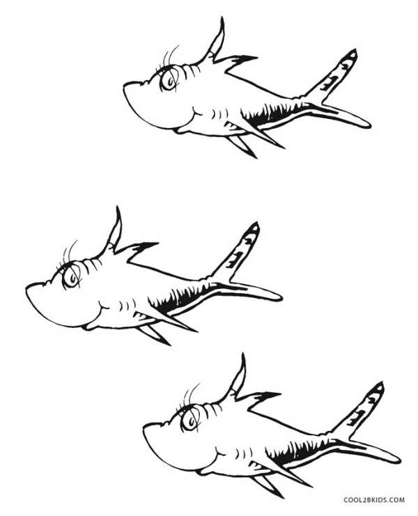one fish two fish coloring pages # 3