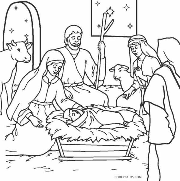 baby jesus coloring page # 10