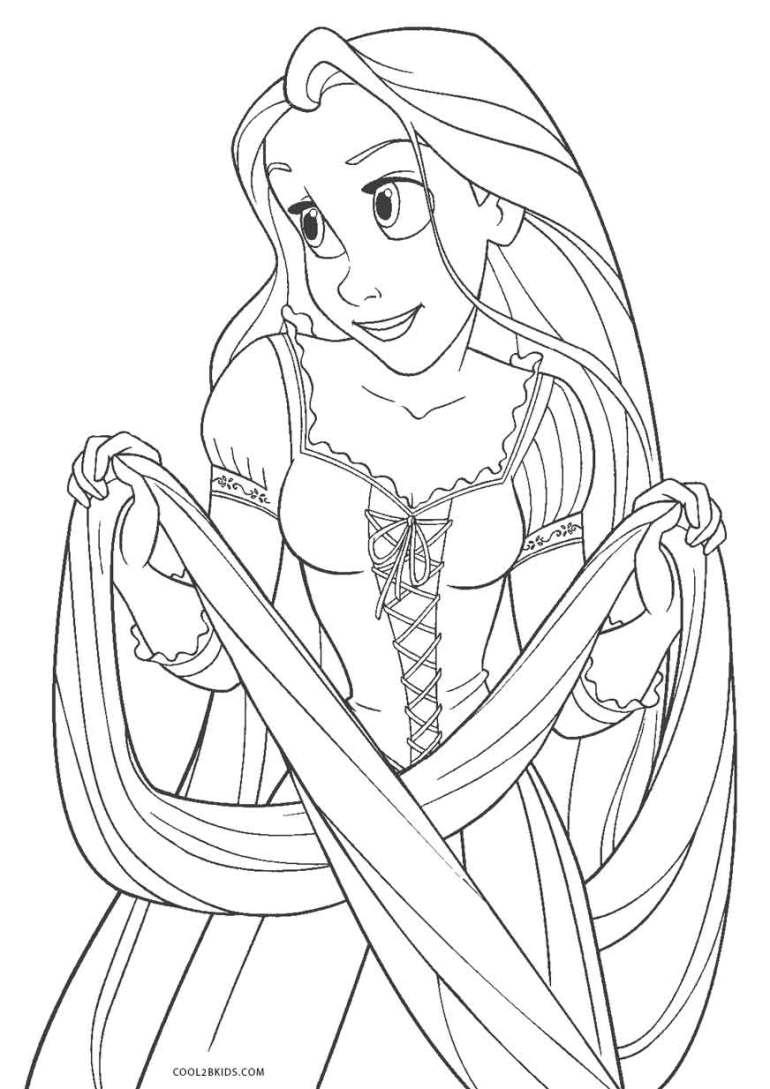 Free Printable Tangled Coloring Pages For Kids | Cool2bKids | colouring pages online printable