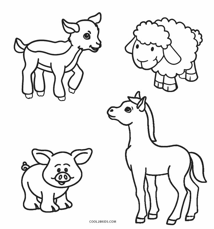 Free Printable Farm Animal Coloring Pages For Kids ... | animal coloring pages for toddlers
