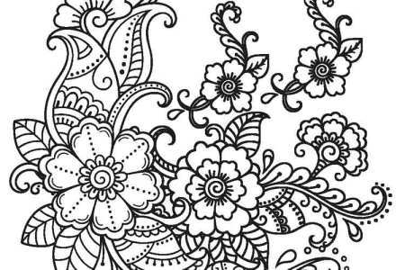 Vector Illustration Flower Mandala Coloring Page Stock Urgent Pages