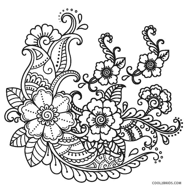 Free Printable Flower Coloring Pages For Kids | Cool2bKids | flower mandala coloring pages