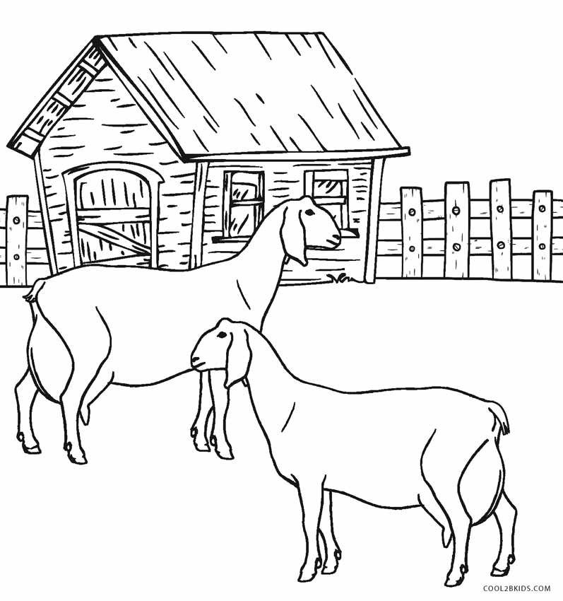Free Printable Farm Animal Coloring Pages For Kids ... | farm animals colouring pages printable