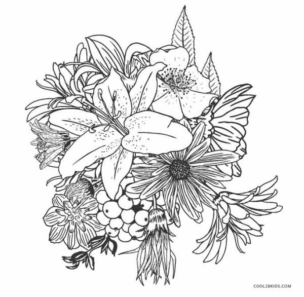 coloring pages flower # 8