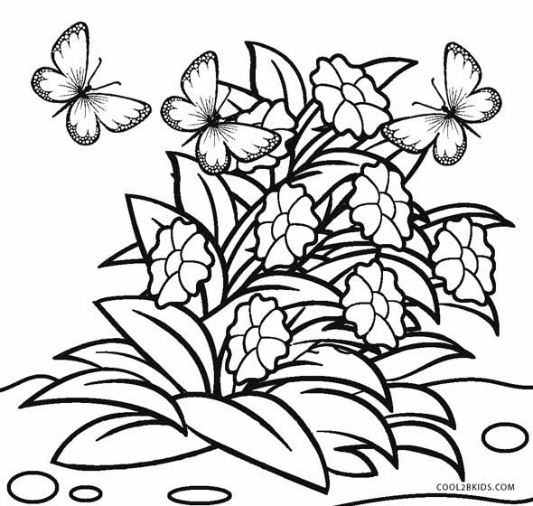 coloring pages flower # 24