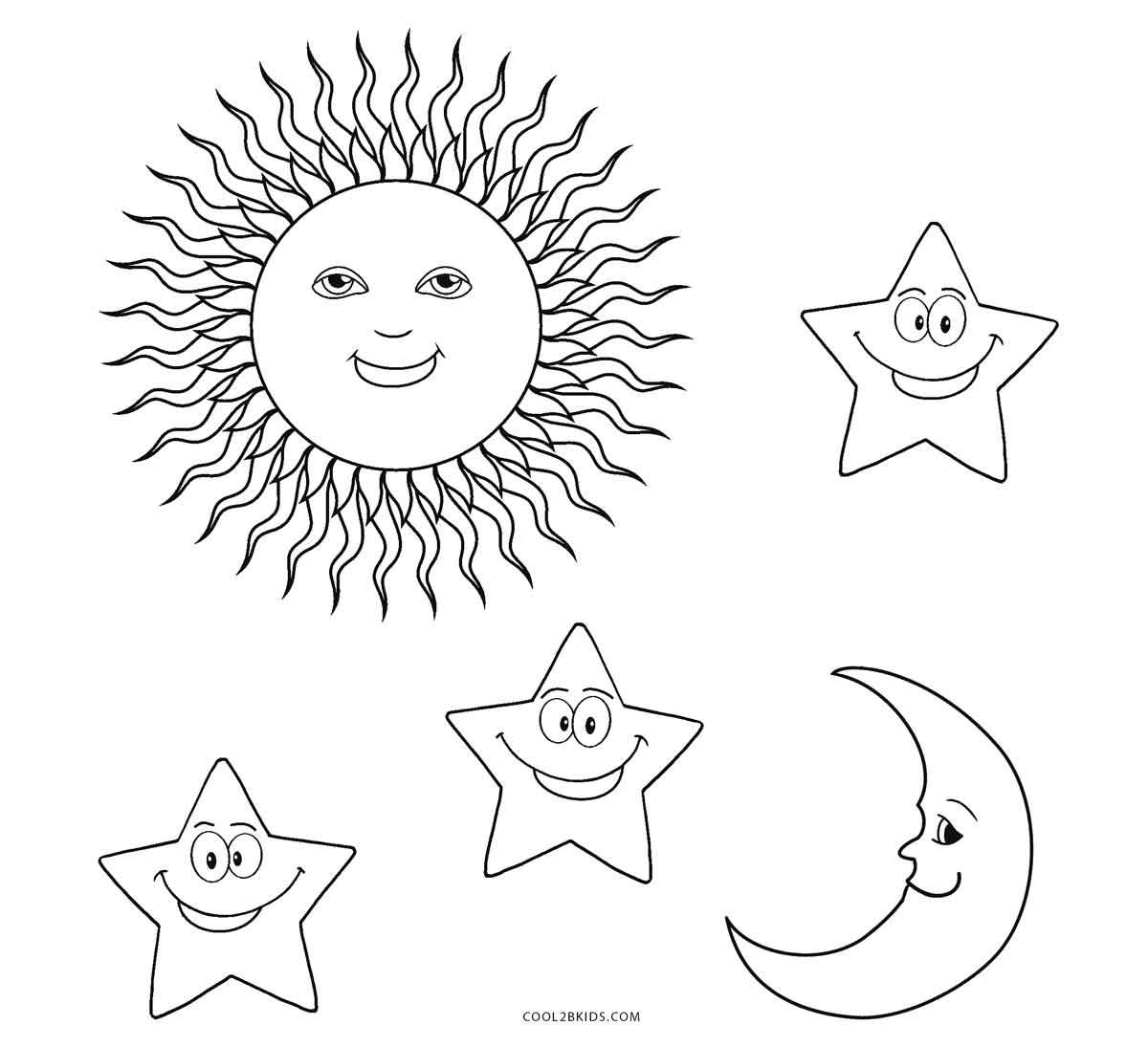 Sun Coloring Worksheet