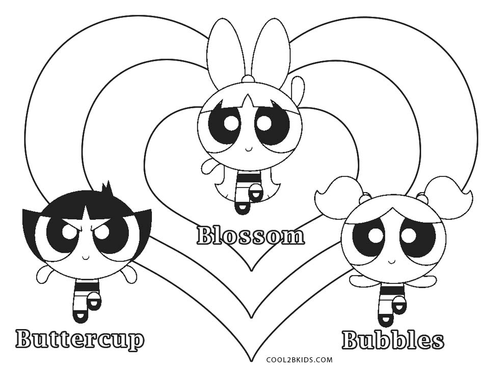 Free Printable Powerpuff Girls Coloring Pages