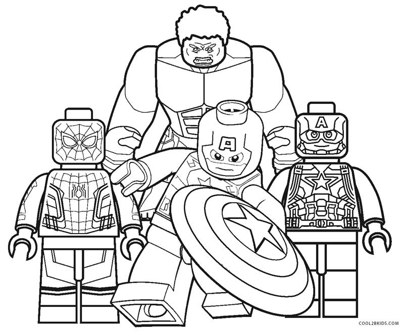 free printable lego coloring pages for kids