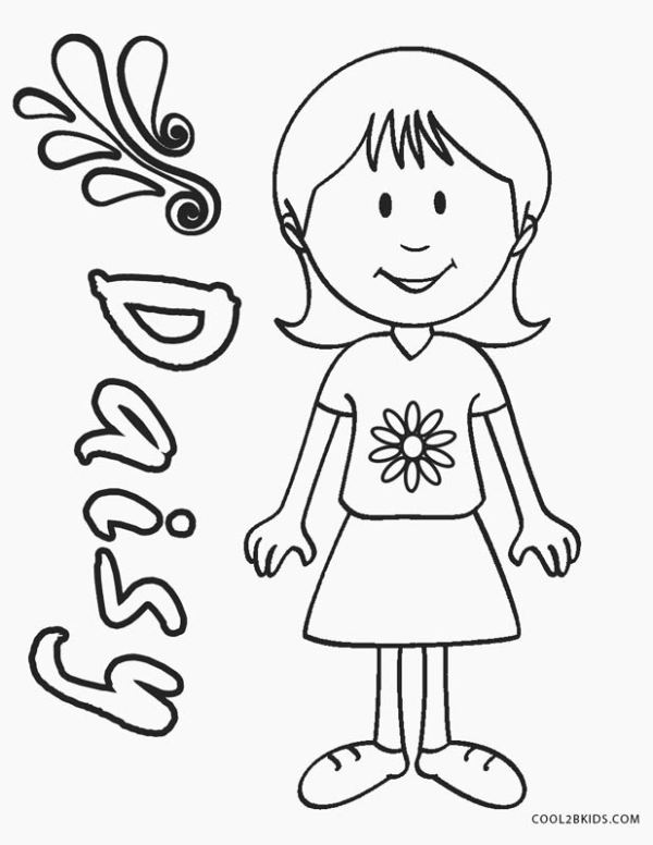 girl scout daisy coloring pages # 10