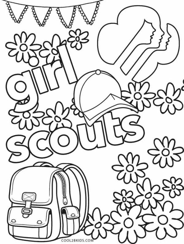 girl scout daisy coloring pages # 7