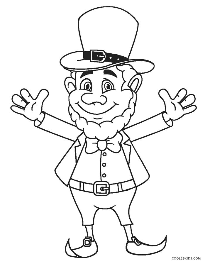 Free Printable Leprechaun Coloring Pages For Kids