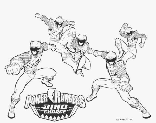 power rangers coloring page # 55