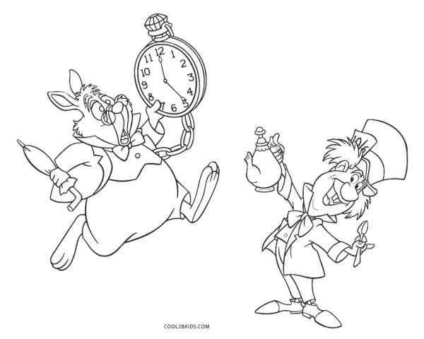 alice in wonderland coloring page # 5