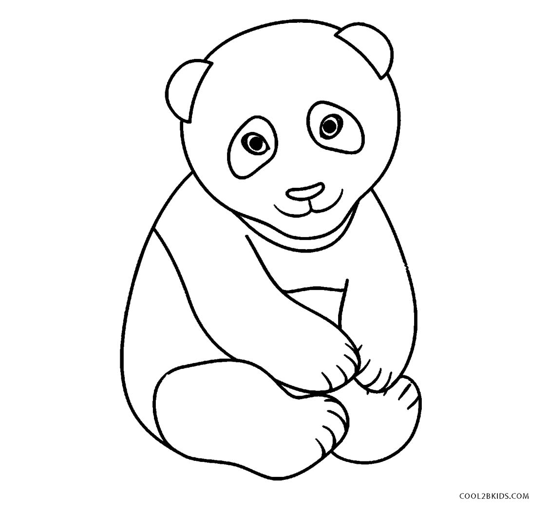 Baby Panda Face Pages Coloring Pages