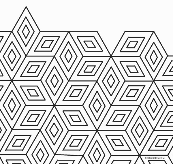 geometric coloring page # 8