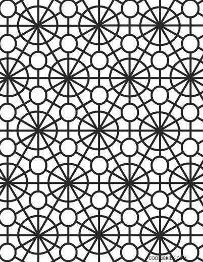 geometric design coloring pages # 7