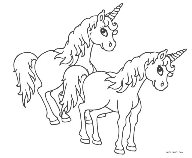 Unicorn Coloring Pages - Cool25bKids