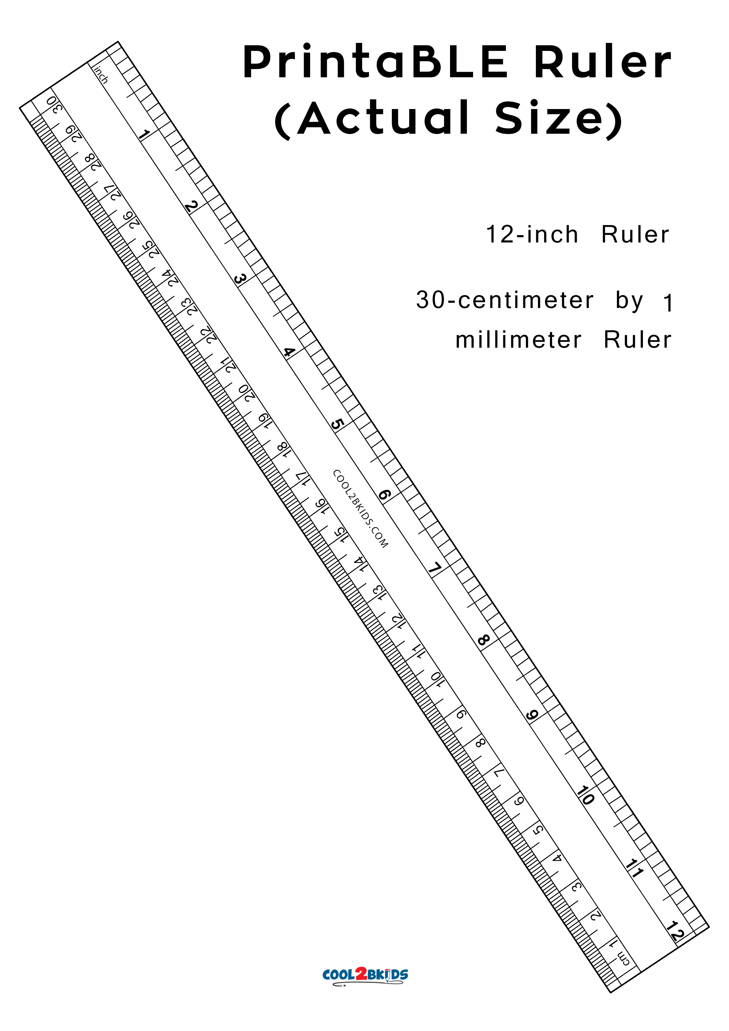 Printable Ruler 12 Inch Actual Size